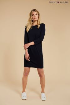 Tommy Hilfiger Blue Ivy Boat Neck Dress
