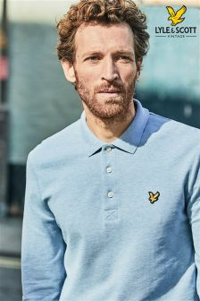 Lyle & Scott Blue Long Sleeve Poloshirt