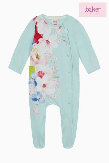 Baker By Ted Baker Appliqué Graphic Print Sleepsuit