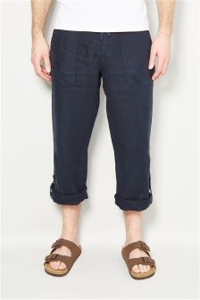 Roll Leg Linen Trousers