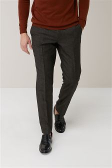 Signature Textured Tailored Fit Suit: Trousers