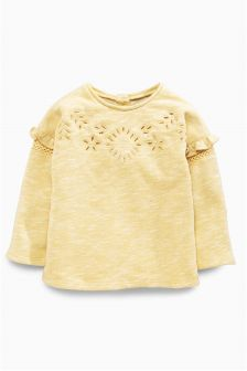 Frill Crew Neck Top (3mths-6yrs)