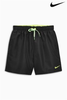 "Nike Black 5"" 2 In 1 Volley Swim Short"