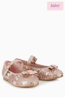 Baker By Ted Baker Gold Sequin Pump