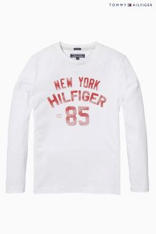 Tommy Hilfiger White Logo Top