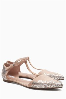 Bridal T-Bar Point Sandals