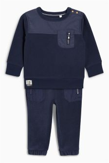 Fleece Crew And Joggers Two Piece Set (3mths-6yrs)