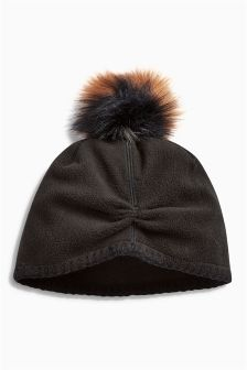 Fleece Pom Hat