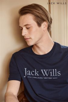 Jack Wills Westmore Navy Logo T-Shirt