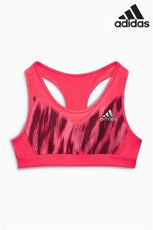 adidas Pink Animal Print Bra