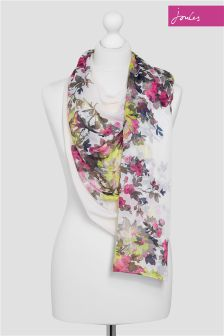 Joules Cream Floral Wensley Scarf