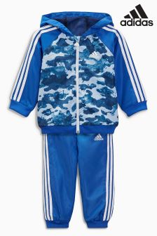 adidas Little Kids Blue 3 Stripe Camo Tracksuit