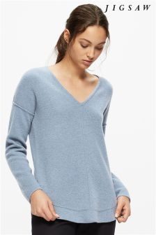 Jigsaw Swedish Sky Wool Cashmere Knit
