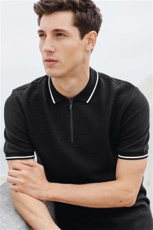 Zip Neck Polo