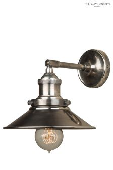 Culinary Concepts Antique Silver Straight Wall Light