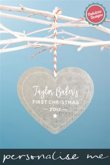 Personalised First Christmas Tree Decoration By Oakdene