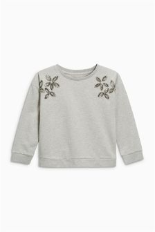 Sequin Crew Neck Sweater (3-16yrs)