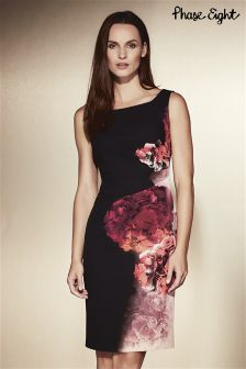 Phase Eight Black Nicoletta Print Dress