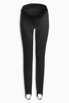 Maternity Denim Stirrup Leggings