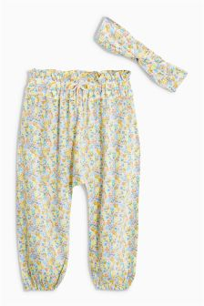 Printed Trousers And Headband Set (3mths-6yrs)
