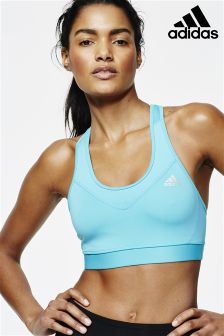 adidas Teal Tech Fit Mid Support Bra