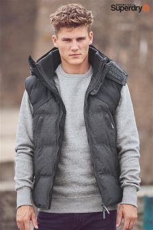 Superdry Charcoal Tech Gilet
