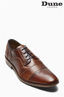 Dune Tan Boycy Toecap Derby Shoe