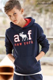 Abercrombie & Fitch Navy Moose Hoody