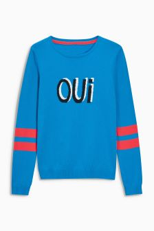 Oui Novelty Sweater