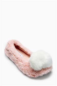 Pom Pom Ballerina Slippers (Older Girls)