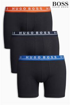 Boss Hugo Boss Black With Colour Waistband Boxer Three Pack