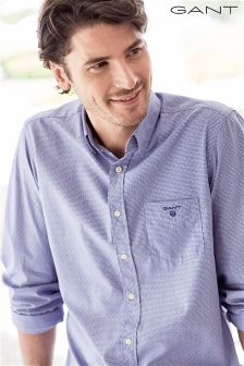 Gant Navy Broadcloth Gingham Shirt