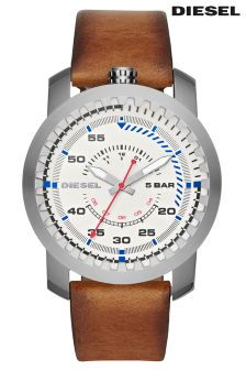 Diesel® Rig Leather Strap Watch