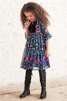 Printed Folk Dress (3-16yrs)