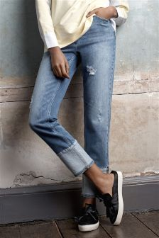 Vintage Turn Up Ankle Jeans