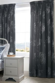 Nostalgia Jacquard Pencil Pleat Blackout Curtains