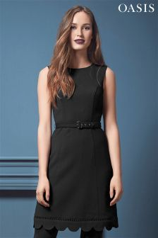 Oasis Scallop Hem Dress