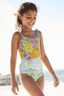 Frill Neck Swimsuit (3-16yrs)