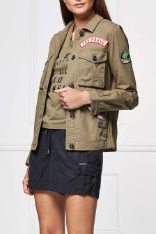 Superdry Urban Khaki Rookie Patch Jacket