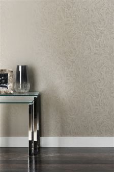 Paste The Wall Silver Marble Effect Wallpaper