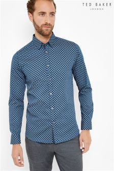 Ted Baker Navy Circle Print Shirt