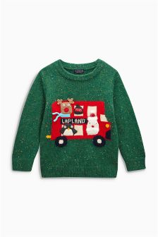Christmas Lapland Bus Jumper (3mths-6yrs)