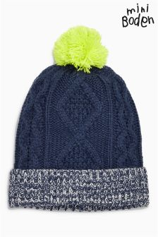 Boden Navy Knitted Hat