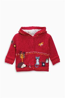 Embroidered Hooded Cardigan (0mths-2yrs)