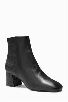 Embossed Leather Boots