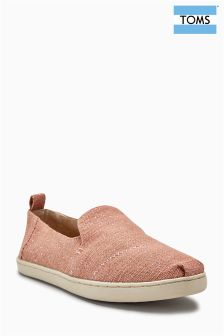 Toms Bloom Metallic Jute Dalp Slip-On Pump