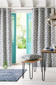 Broken Geo Jacquard Eyelet Curtains