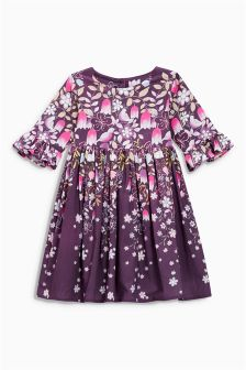 Border Print Prom Dress (3mths-6yrs)
