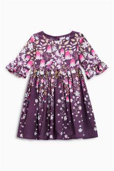 Border Print Prom Dress (3mths-6yrs)