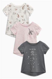 Bunny T-Shirts Three Pack (3mths-6yrs)